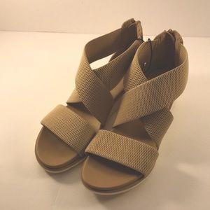 MIA Chelsea Tan Wedge Cross Strap Sandal